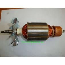 Якорь (ротор) для УШМ болгарки DWT WS-230SL (L-214/ 59 mm)