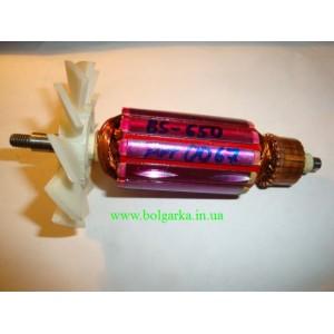 Якорь для ленточной шлифмашинки DWT BS-650 (L-142,5/35) с вентирятором