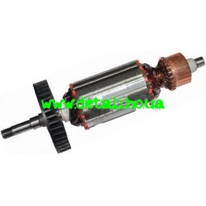 Якорь для угловой шлифмашинки DWT 125 S (SV) (L-173mm, d=39,5mm)